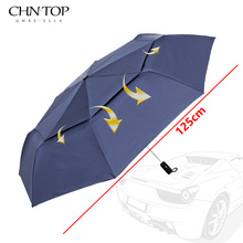 Big Umbrella Men Corporation Windproof Double Layer Folding Umbrella For Man Rain Women Sun Parasol Automatic Golf Umbrellas(China)