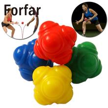 Forfar Outdoor Sports Silicone Hexagonal Ball Solid Fitness Training Reaction Ball High Level
