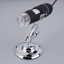 50-500X 2MP USB LED Light Microscope Endoscope Video Camera Magnifier w/ Stand