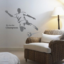 Kids bedroom football wall stickers removable home decor boy wall decals(China)
