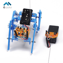 Smart Robot Kit Remote Control 6-Legs Remote Control Robotic DIY Kits Speed Encoder Battery Box for Arduino