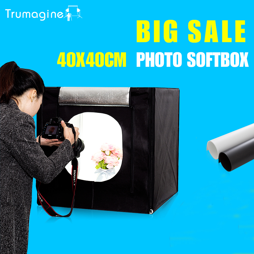"40*40*40CM 16"" Photo Light Tent Softbox Photo Studio Lightbox Photography Mini Tabletop Shooting Tent For Jewelry Sunglass(China)"