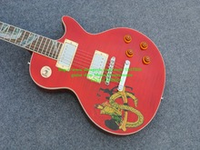 New Arrival Slash Electric Guitar Red Slash Guitar Yellow snake is not very perfect On sale Free Shipping