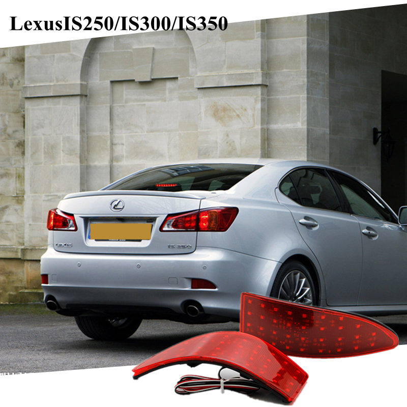 For 2006-2013 Lexus IS250/IS300/IS350 LED Read Rear Bumper Reflector Lights Brake Parking Light Auto Tail Night Running Lamp<br><br>Aliexpress