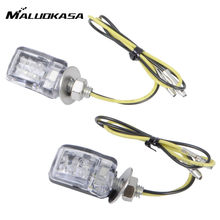 MALUOKASA 6mm Bolt 6 LED Motorcycle Turn Signal Indicator Light Motor Mini Turnning Marker Lamp Universal Street Moto Flasher(China)