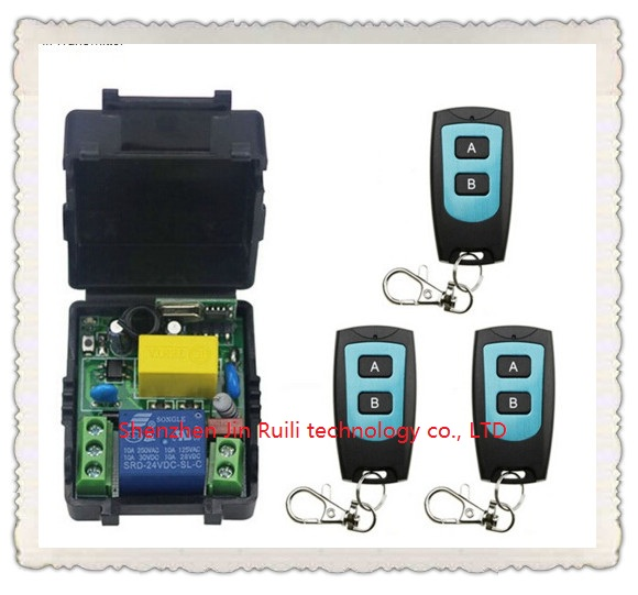 Universal AC220V 1CH 10A Remote Control Switch Relay Output Radio Receiver Module and 3@Waterproof Transmitter Toggle Momentary<br><br>Aliexpress