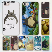 MOUGOL anime My Neighbor Totoro and friends design hard clear Case Cover for Apple iPhone 7 6 6s Plus SE 4s 5 5s 5c Phone Case