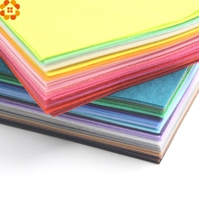 20PCS 15CMX15CM DIY Non Woven Felt Fabric Polyester Cloth Felts Handmade Sewing Dolls Crafts&Home Party Decoration 1MM Thickness(China)