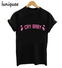 Women T shirt Melanie Martinez Cry Baby Pink Letters Print Cotton Casual Funny Shirt Lady Black Top Tee Hipster woman tshirt top