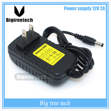 Freeshipping High quality universal power adapter AC 100-240V to DC 12v 2a power supply adaptor For 3D scanner
