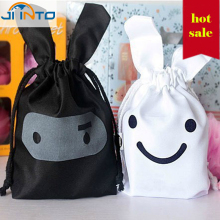 rabbit shaped Travel Storage Bag  Clothes Tidy Pouch Home  Storage Non-Woven Laundry Shoe Bag Portable Tote Drawstring Organize