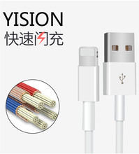 High quality 8 pin Data Sync Adapter Charger USB Cable Cords wire for iPhone 5 5s 6 6s 7 Plus iPod Touch perfect fit for ios 10
