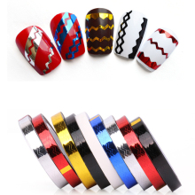 CNDSE 8M Mixed Colorful Beauty Rolls Striping Decals Foil Tips Tape Line DIY Design Nail Art Stickers for nail Tools Decoration