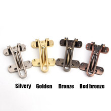 1pcs Home Guard Safety Locks Steel Hasp Latch Lock Door Chain For Home Hotel Security Protection Anti-theft clasp