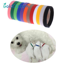 12 Colors Whelping Nylon Small Pet Dog Collar ID Soft Adjustable Reusable Identification Collars For Pets Puppy Dogs Kitten Cats(China)