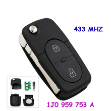 2 Buttons Remote Key Control Fob 1J0 959 753 A for VW PASSAT GOLF MK4 1998-2000 433MHZ With ID48 Chip(China)