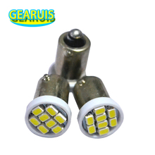 100pcs Truck LED 24V BA9S 8 SMD 3020 LED 8SMD 1206 6523 1895 T4W Interior Reading Light Bulbs White Blue Red Yellow Green DC24V(China)