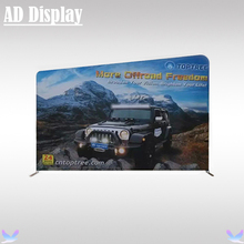 Oblique Straight Shape High Quality Advertising Tradeshow Display Portable Tension Fabric Banner Stand With Graphic Printing