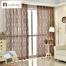 Modern jacquard curtain home decoration living room curtains window fabric short blinds drape panel ready made cheap curtains(China)