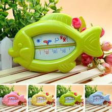 High Quality Baby Floating Fish Water Thermometer Plastic Float Bath Toy Tub Sensor  10-50C