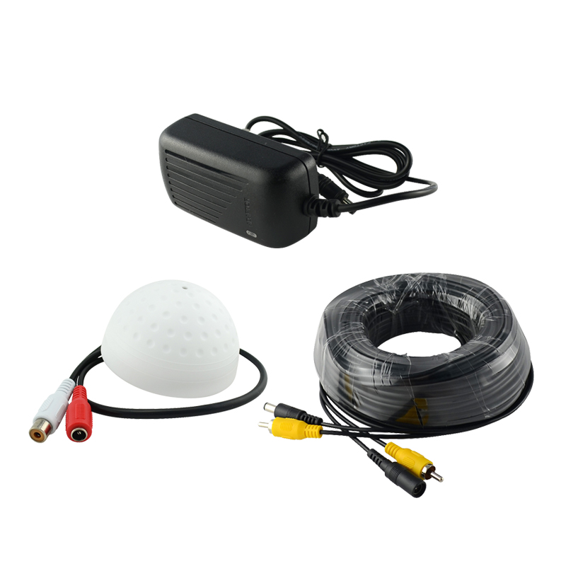 New Hotting ANNKE / SANNCE CCTV High Sensitive Microphone Security Camera RCA Audio Mic DC Power Cable For Home Security System<br><br>Aliexpress