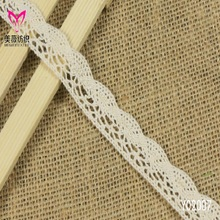 Lace manufacturer in guangdong hot hot style packaging materials sector cotton lace The wavelet edge cotton bar code