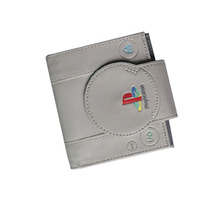 New PlayStation Games Mens Wallets Short Slim Leather Women Purse Money Bags Zipper Coins Pockets Cards Holder Retail Wholesale(China)