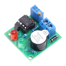 LM358 12V On-Board Lithium Battery Low Voltage Alarm Buzzer Lipo-Lion Under Vlotage Protection Module With LED Indicator(China)