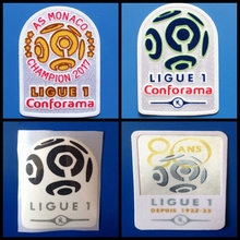 top quality 2016 2017 2018 Ligue 1 80 ANS 1932-33 golden football patches badges,Soccer Hot stamping Patch Badges(China)