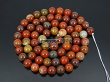 Natural Apple Jas-per 6mm Gems Stones Round Ball Loose Spacer Beads 15'' 5 Strands/ Pack(China)