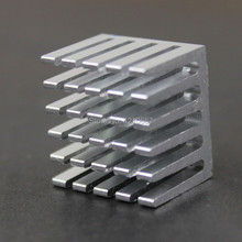 20 pieces lot Silvr Heat Sink 20x20x15mm Router IC Heat Sink Aluminum Cooling Fin 20*20*15