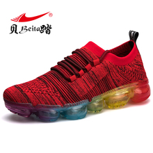 Beita 2017 MR Men Running Shoes Mesh Breathable Sneakers Cushioning Wear-Resisting Male Outdoor Flyknit Racer Brand Sports Shoes