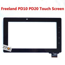 "7"" Capacitive Touch Screen Panel Replacement for Freeland Tablet PC PD10 PD20 18mm Width Connector Free Shipping(China)"