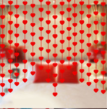 3M Happy Family Love Heart Curtain Non-woven Garland Flags Banner Wedding Decoration Birthday Party Supplies Red Bunting 8zSH282