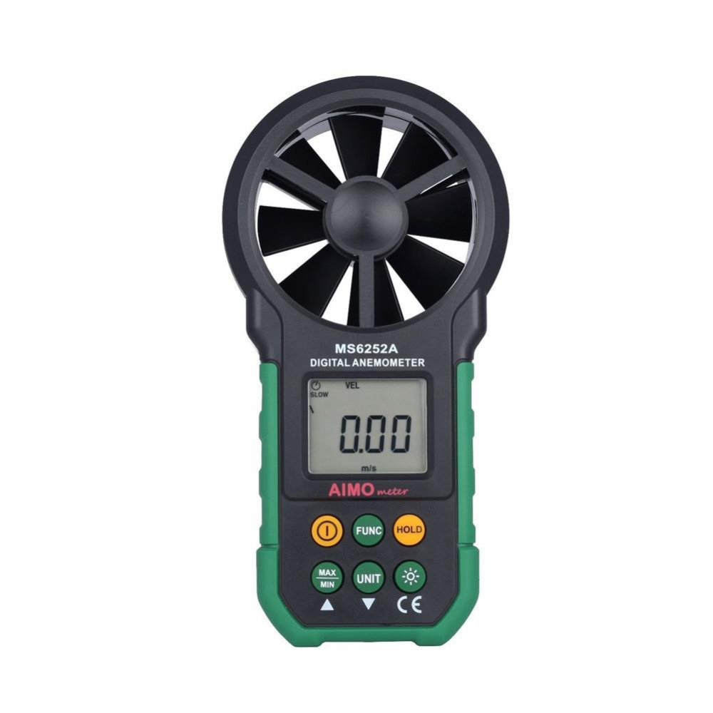 MASTECH MS6252A Digital Anemometer Meter Backlight Air Velocity Measurement<br>
