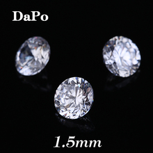 Hearts and Arrows 1.5MM Crystal White Clear Round Cubic Zirconia Stones Loose Synthetic Gems For Jewelry DIY Wax Setting
