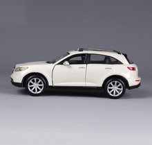 1/24  Infiniti FX45 SUV White Car Model Collections Displays Gifts Toys For Boy Children Brinquedos