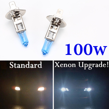 Buy 2 pieces H4 H7 Halogen Bulb Super Xenon White Fog Lights High Power 100W Car Headlight Lamp Car Light Source Parking Auto Lamp for $2.49 in AliExpress store