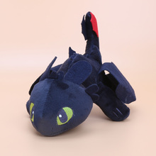 23cm / 33CM  Anime Cartoon How to Train Your Dragon Toothless Night Fury Plush Toy Soft Stuffed Animal Doll