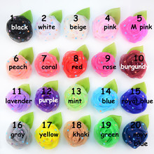 100pcs/lot 7.0cm Rolled Rose Bud Tulle Flower With Green Leaf Little Star Dotted Rosette Flower for Girl Hair Headband TH221
