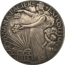 1915 United States Half Dollar (Panama-Pacific Exposition) coins COPY FREE SHIPPING 30.6MM