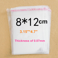 3000 X (8 x 12cm) Clear Self-adhesive Poly Cello Bags For Credit Card(China)