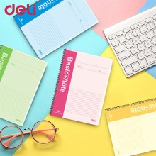 Deli 7688 A4 Spiral Notebook 60 Sheets School Study Diary Journal Soft Copybook Paper Cover Office Supplies Stationery