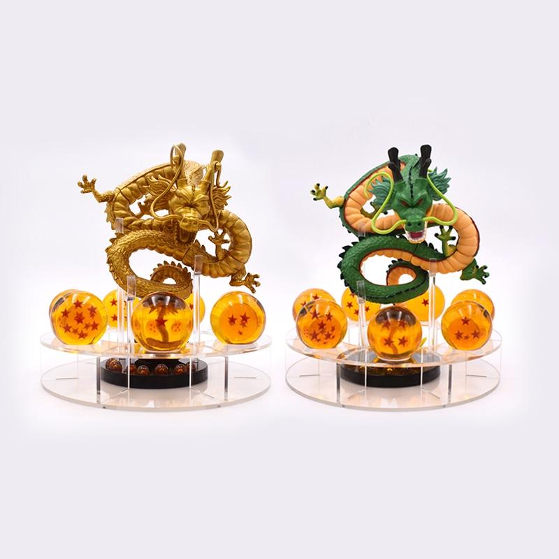 Dragon Ball Z Figurines Shenron Action Figure Shenlong With Dragon Ball Set 7PCS 3.5cm Crystal Dragonballs Acrylic Shelf<br>