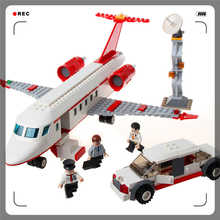 Enlighten Building Block Compatible Legoe Airplane Air Bus 334Bricks Toy For Children(China)