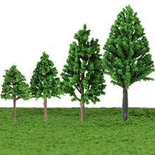 New 5pcs/set 1:100-300 5cm 6cm 8cm 10cm Train Layout Model Trees Scale Garden Scenery Railroad landscape Mini Model Trees Toys