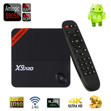 [Genuine] Android 6.0 TV Box X9Pro Amlogic S905X Quad Core DDR3 1G/8G H.265 HEVC 2.4G WiFi Youtube Netflix Smart 4K Media Player