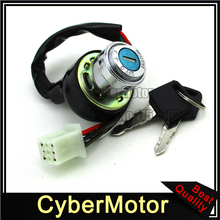 6 Pin On Lock Off  Ignition Key Switch + 2 Keys For Kazuma Meerkat 50 50cc ATV Quad 4 Wheeler
