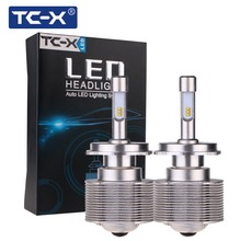 TC-X 2pcs High Lumen 7000Lm LED Car Headlights Bulb Kit H4 Hi/lo 80W /Set 9005 HB3 Head Lamp Fog Light Kit LED Auto Front Bulbs