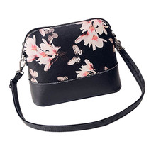 Hot Sale New Women Printing Shoulder Bag PU Leather Purse Satchel Hobo Messenger Bag Vintage Designer Graffiti Girl Bolso  xiniu